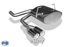 Mini One/Cooper R50 Silencieux Sport Sortie Centré 2x70 Type 11 de Fox