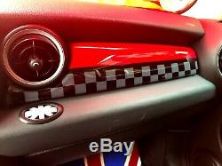 Mini One Cooper R55 R56 R57 R58 R59 HABITACLE aménagement intérieur rouge WORKS