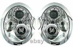 NEUF Projecteurs pour BMW MINI COOPER R50 R52 R53 2001-2006 Angel Eyes Chrome F