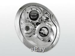 NEUF! Projecteurs pour BMW MINI COOPER R50 R52 R53 2001-2006 Angel Eyes Chrome F