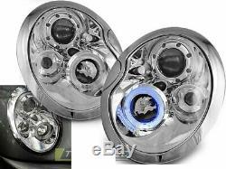 NOU Faruri pentru BMW MINI COOPER R50 R52 R53 01-06 angel eyes crom FR LPMC01EM