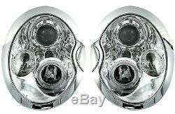 NOU! Faruri pentru BMW MINI COOPER R50 R52 R53 01-06 angel eyes crom FR LPMC01EN