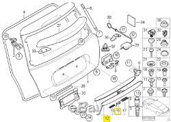 Neuf D'Origine Mini R50 R52 R53 Coffre Arrière Poignée Couvercle Chrome 7074020