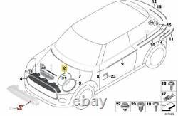 Neuf Véritable Mini F55 F56 F57 avant Gauche Droit Phare Chrome Contour Bord Set