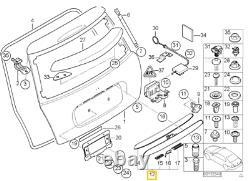 Neuf Véritable Mini R50 R52 R53 Coffre Couvercle Poignée Noir 7167530