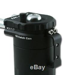 Oil Capture Réservoir de D'Huile Récupérateur Collecteur Aluminium Noire