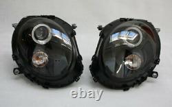 Phares LED Ange Yeux Pour Mini Cooper R55 Noir avec Moteur Ece Top