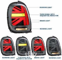 Pour Mini Cooper F55 F56 F57 2014-18 LED dynamique Feux arrière Union Jack R+L