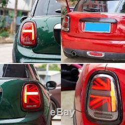 Pour Mini Cooper F55 F56 F57 2014-2018 LED Dynamique Feux arrière Union Jack