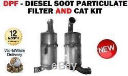 Pour Mini One Cooper D R56 2009- Diesel DPF Suie Filtre et Chat Kit