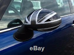Rétroviseurs Capot Noir Gris Blanc Convenable pour Mini One Cooper R50 R53 52