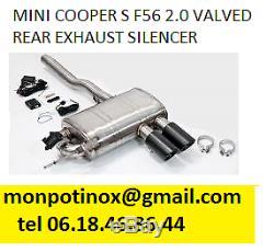 # échappement Inox avec ou sans valves Mini Cooper Mini One R50 R53 R56 F56